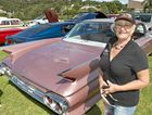 PRETTY IN PINK: Bev Aulbury with her pink Cadillac at last year's Car Run For Cancer.