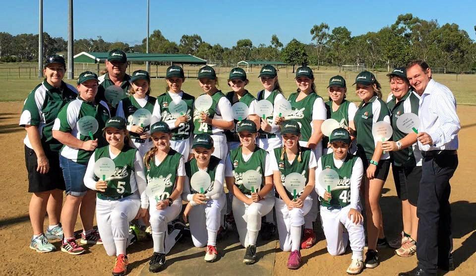 Ipswich U15 girls softball team prepare to host the 2016 Queensland U15 Girls State Championships this weekend.