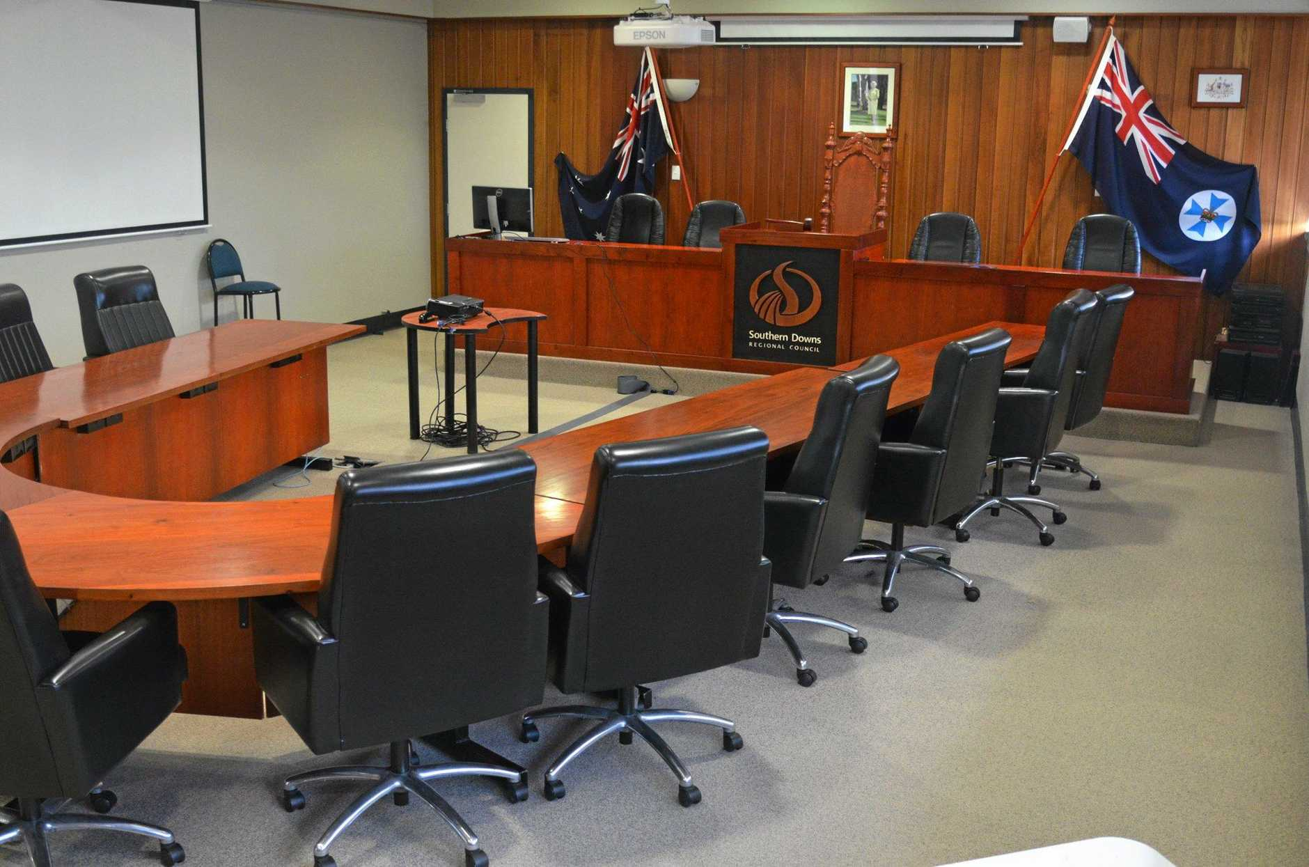 Southern Downs Regional Council chamber Warwick