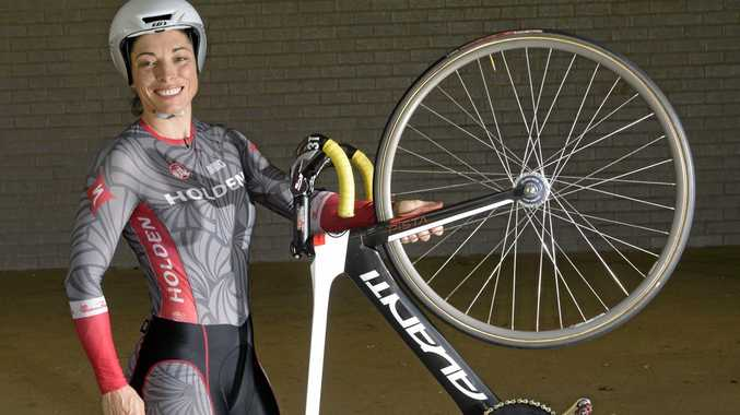 WHEELY GOOD: Laurelea Moss, who has set world best times on the velodrome after only six months cycling on the track.