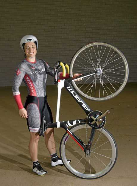 Laurelea Moss - who has set world best times on the velodrome after only six months cycling on the track.