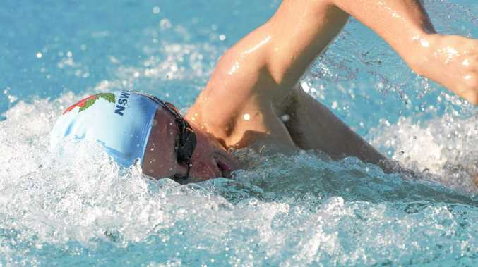 LIGHTNING: Swimmer Charlie Steele at Grafton Pool.
