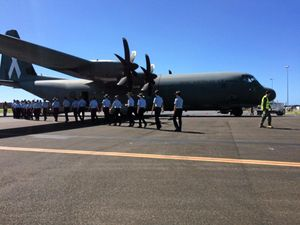 Rare opportunity for cadets to fly in Hercules at Ballina