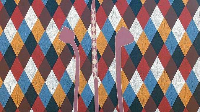 ARTWORK: Digby Moran, Bundjalung Boondies, 2012, acrylic on canvas, 250 x 180 cm.
