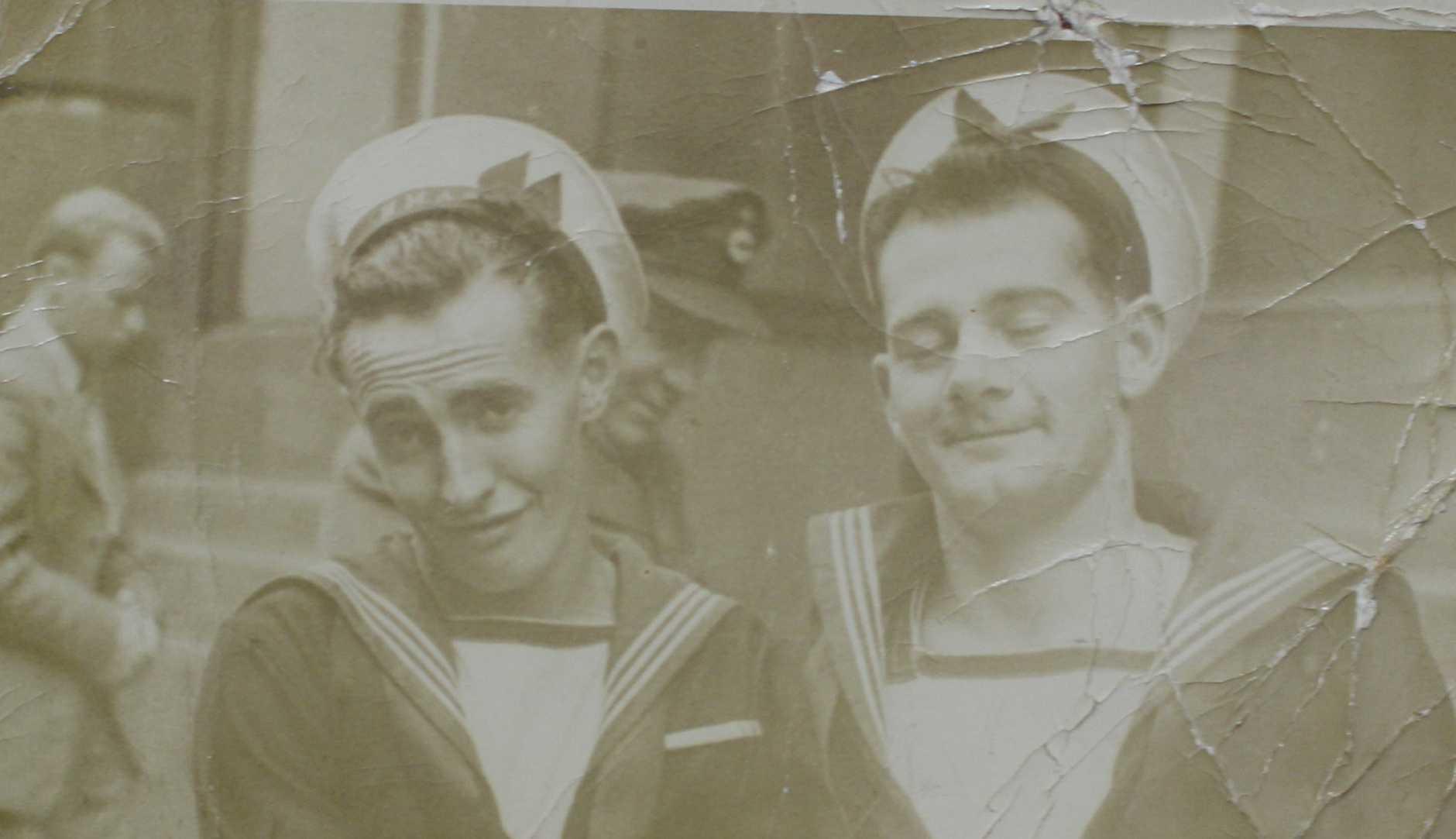 Ken and Gordon Davies, 1947.