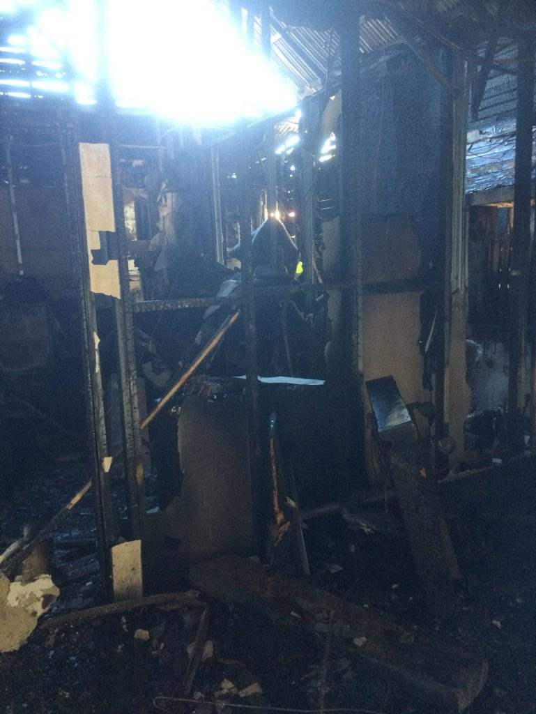 The interior of the Church Pharmacy has been totally destroyed.