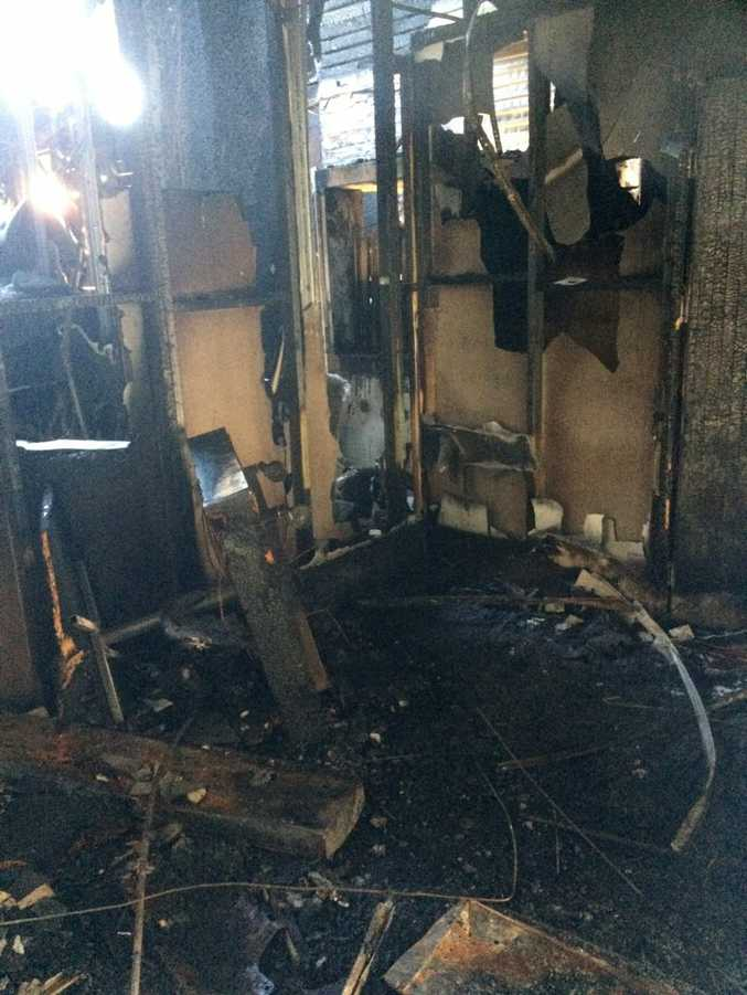 The fire destroyed the inside of the building.