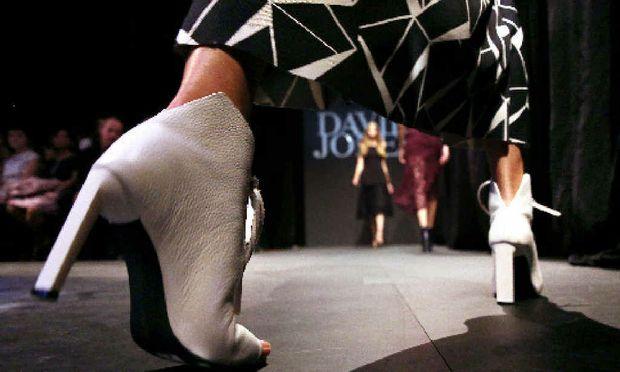On the catwalk of David Jones Autumn Winter 2016 fashion show.