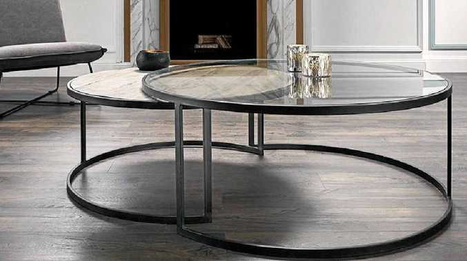 Prato Round Nest Coffee Tables (two pieces), from a range at Nick Scali, http://www.nickscali.com.au