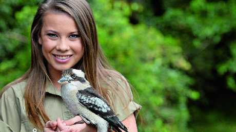 """Bindi Irwin with a kookaburra ... """"ever since I was little I have loved the sky and wished I could fly."""""""
