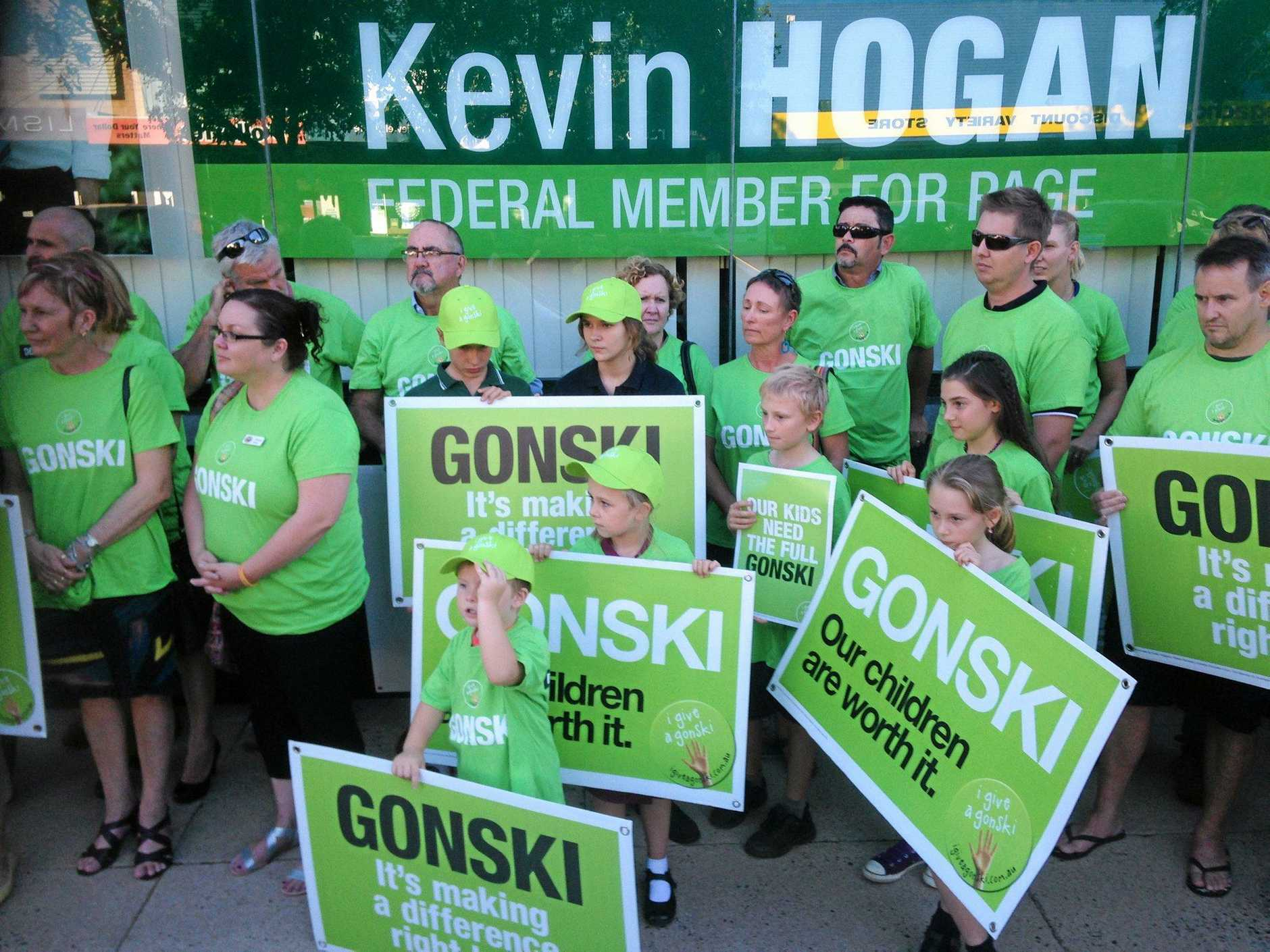 Community members rallied in Lismore this week to call for Member for Page Kevin Hogan to let Prime Minister Malcolm Turnbull know that Gonski funding