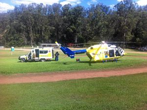 Man receives chest injuries in motocross crash