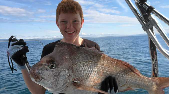 """Tugun 14-year-old Nick Wilson caught this 6kg snapper on pilchard at Woody Head while he and his father Paul were holidaying in Yamba over Easter. Paul wrote, """"It is the best fish he's ever caught, we've only just got our boat and this is our first fishing trip in it. His smile says it all."""""""