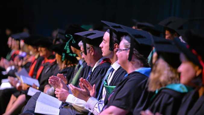 PROUD: Students at yesterday's University of the Sunshine Coast graduation.