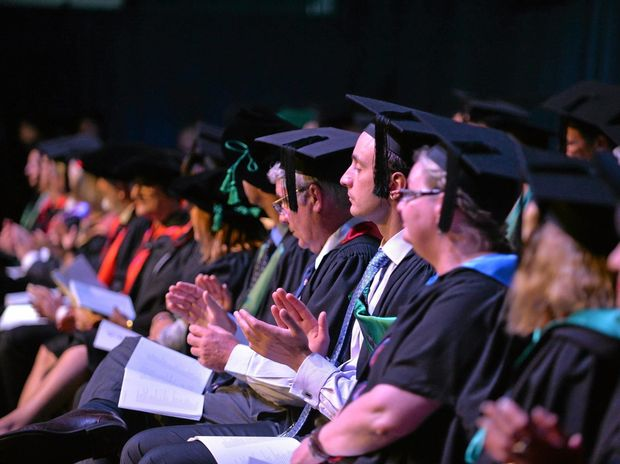 PROUD: Students at yesterday's University of the Sunshine Coast graduation.