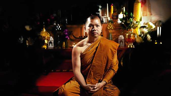 Buddhist monk Phramaha Weraphony Ritchumnong will be attending the Thai Songkran Festival at the Lismore showground this weekend. Photo Marc Stapelberg / The Northern Star
