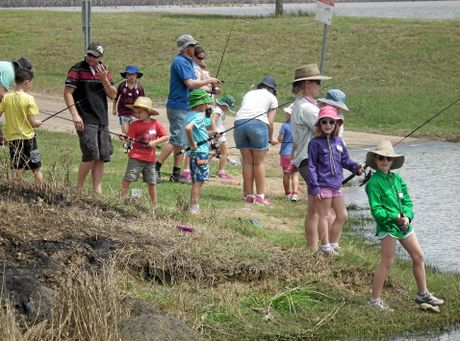KID'S FISHING DAY:  kids learning to fish.Photo Erica Murree / Central & North Burnett Times