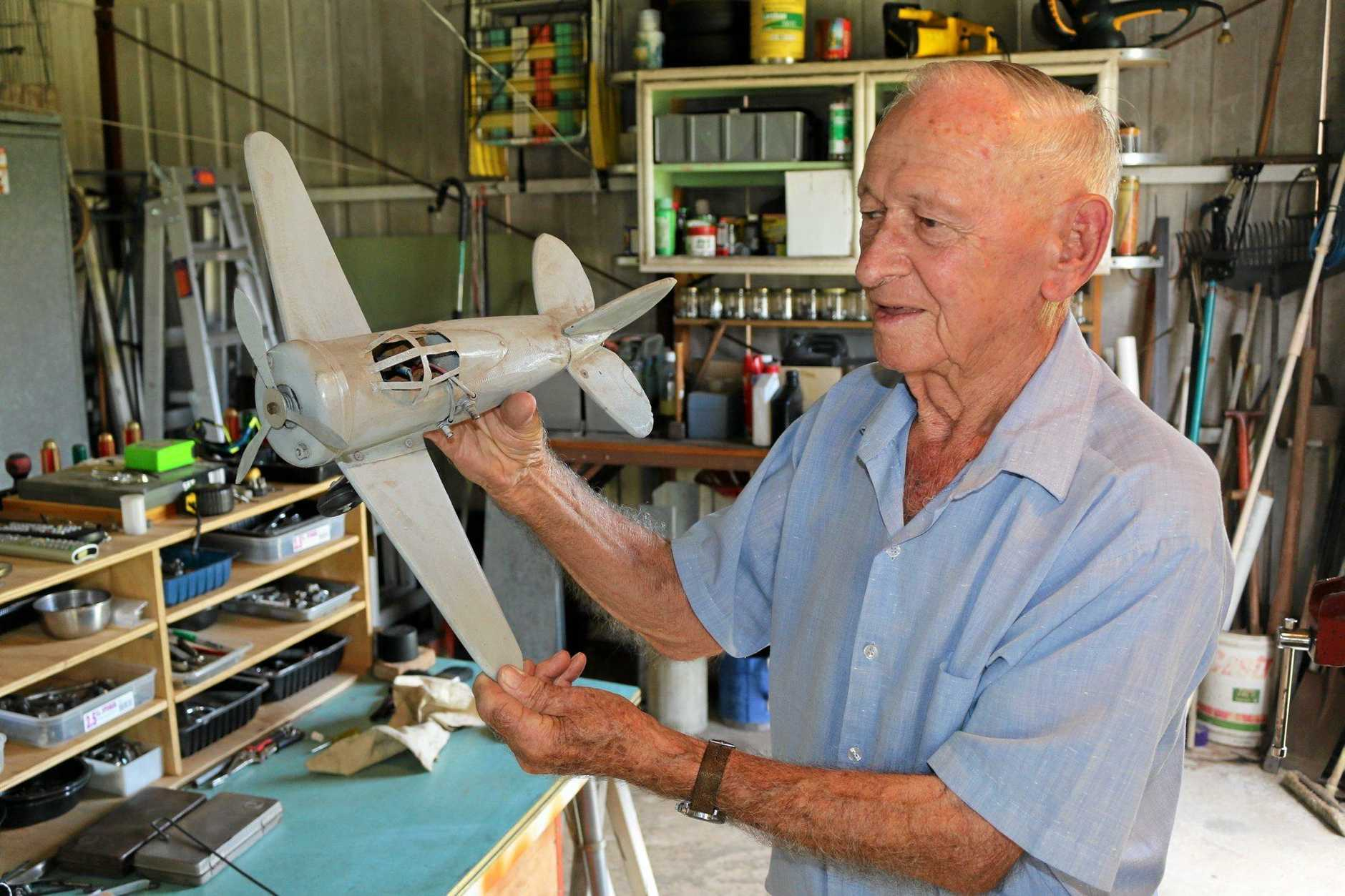 TINKERMAN: Dick Muller loves to build and invent in his backyard shed.