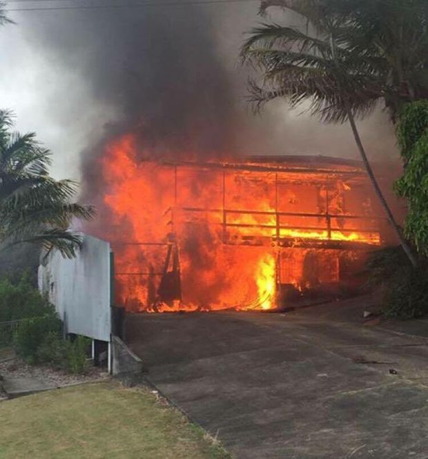 Fire has destroyed a High St, Woolgoolga home.
