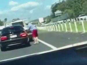 Road rage captured on Bruce Highway