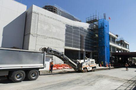 Progress of work on QIC's Grand Central development, Thursday, March 31, 2016.