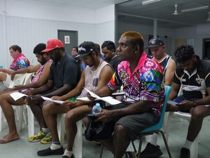 Woorabinda rugby league players say no to domestic violence