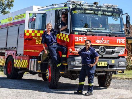 L-R Chris Barnes, Lisa Bussa and May Standing of Woolgoolga Fire Brigade.