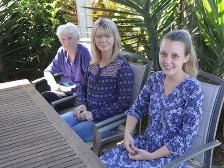 Irene, Kellie and Ashleigh Knox in their Darling Heights home. Photo Andrew Backhouse / The Chronicle