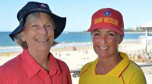 Coordinating teacher Margaret Norris and Mooloolaba life saving manager Sally taylor.