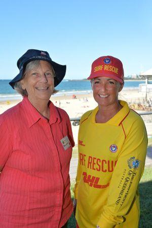 Coordinating teacher Margaret Norris and Mooloolaba life saving manager Sally taylor.