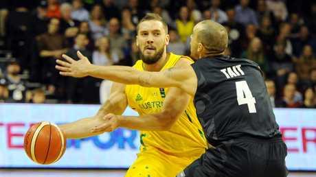 Australia's Adam Gibson in action.