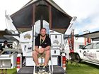 Camping expo at the Nambour showgrounds. Aaron Touw and his Alu-Cal and Quick Pitch Campers attracted a lot of attention. Photo: Che Chapman / Sunshine Coast Daily