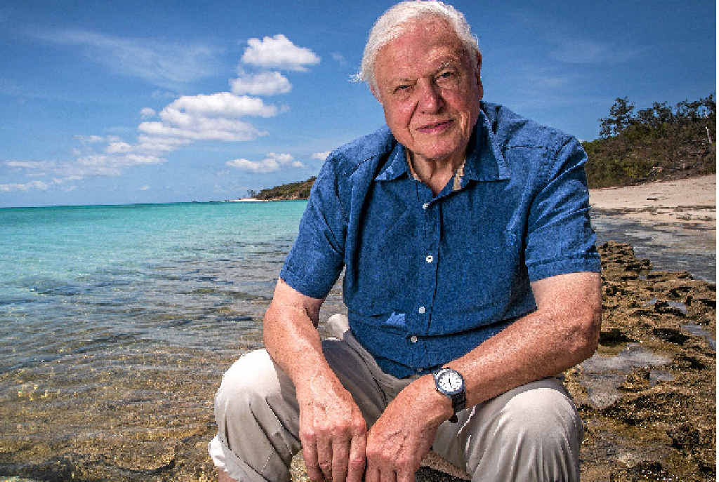 WORRIED: Sir David Attenborough is concerned for the future of the Great Barrier Reef.