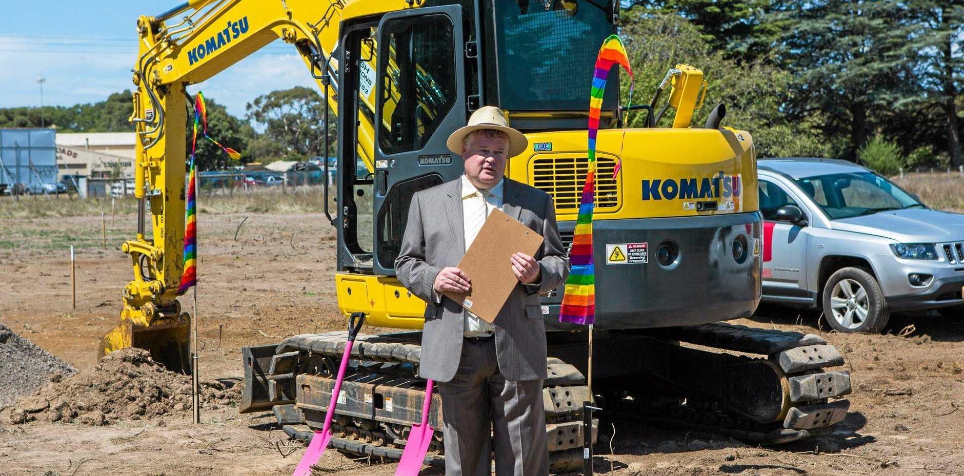 BIG PLANS: Developer Peter Dickson at the start of Linton Estate, Ballan, Victoria.