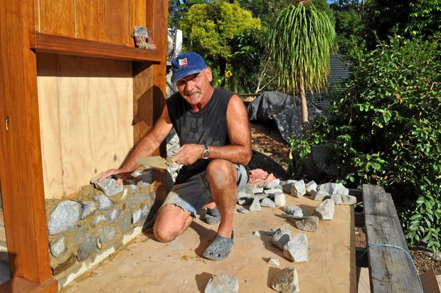 SOLID STONE: Gerard Cornet brings his traditional craft to local gardens.