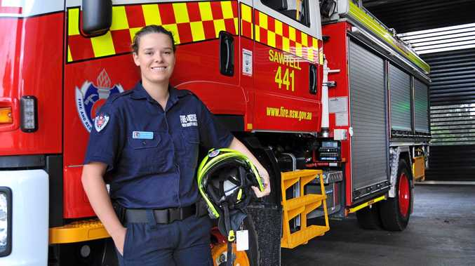 PROMOTING OPPORTUNITY: Sawtell firefighter Georgia Gerdes reflects on her role at Sawtell Fire Station.