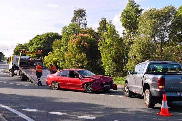 Two cars crashed head-on on the Sunshine Mwy.