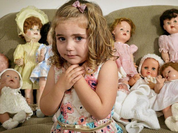 FAIR TIME: Adelaide Lawson practising for the Gala Doll Fair.