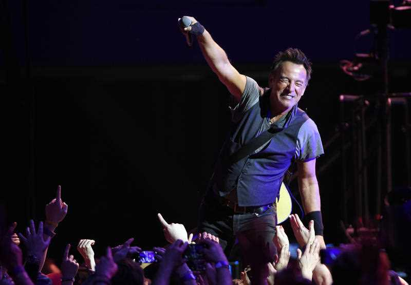 Bruce Springsteen performs with the E Street Band at the Los Angeles Sports Arena on Tuesday, March 15, 2016, in Los Angeles.