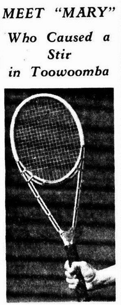 The racquet got people in Toowoomba talking.