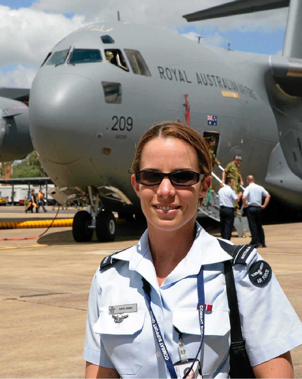 Busi Women special guest speaker: Royal Australian Air Force Squadron Leader Anita Green.