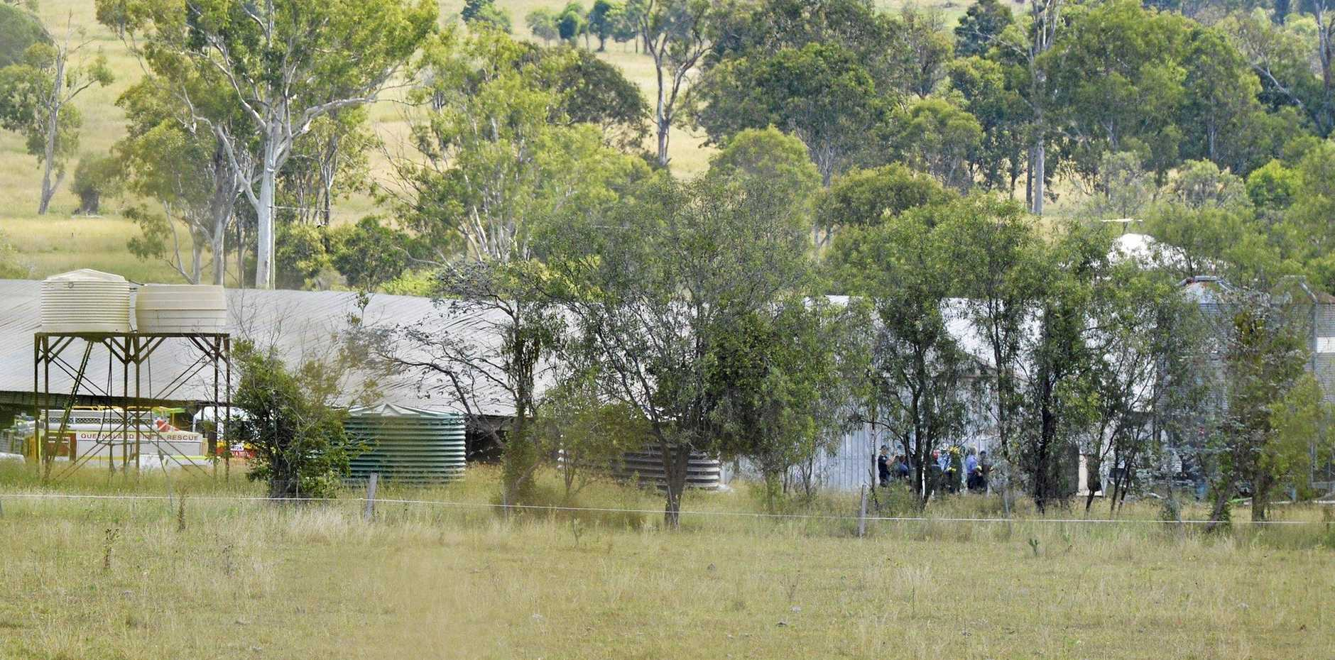 Fire destroyed a chicken shed at Marburg.