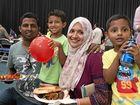 FAMILY AFFAIR: Tasting the food on offer are (from left) Ashfaq Lafeer, Aamir Ashfaq, Raziya Ashfaq and Atheek Ashfaq.