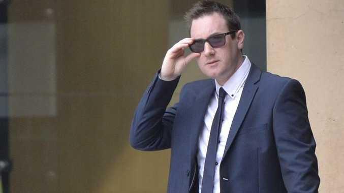 Goodna policeman Daniel Denis Banks on Monday leaving Ipswich Magistrates Court.