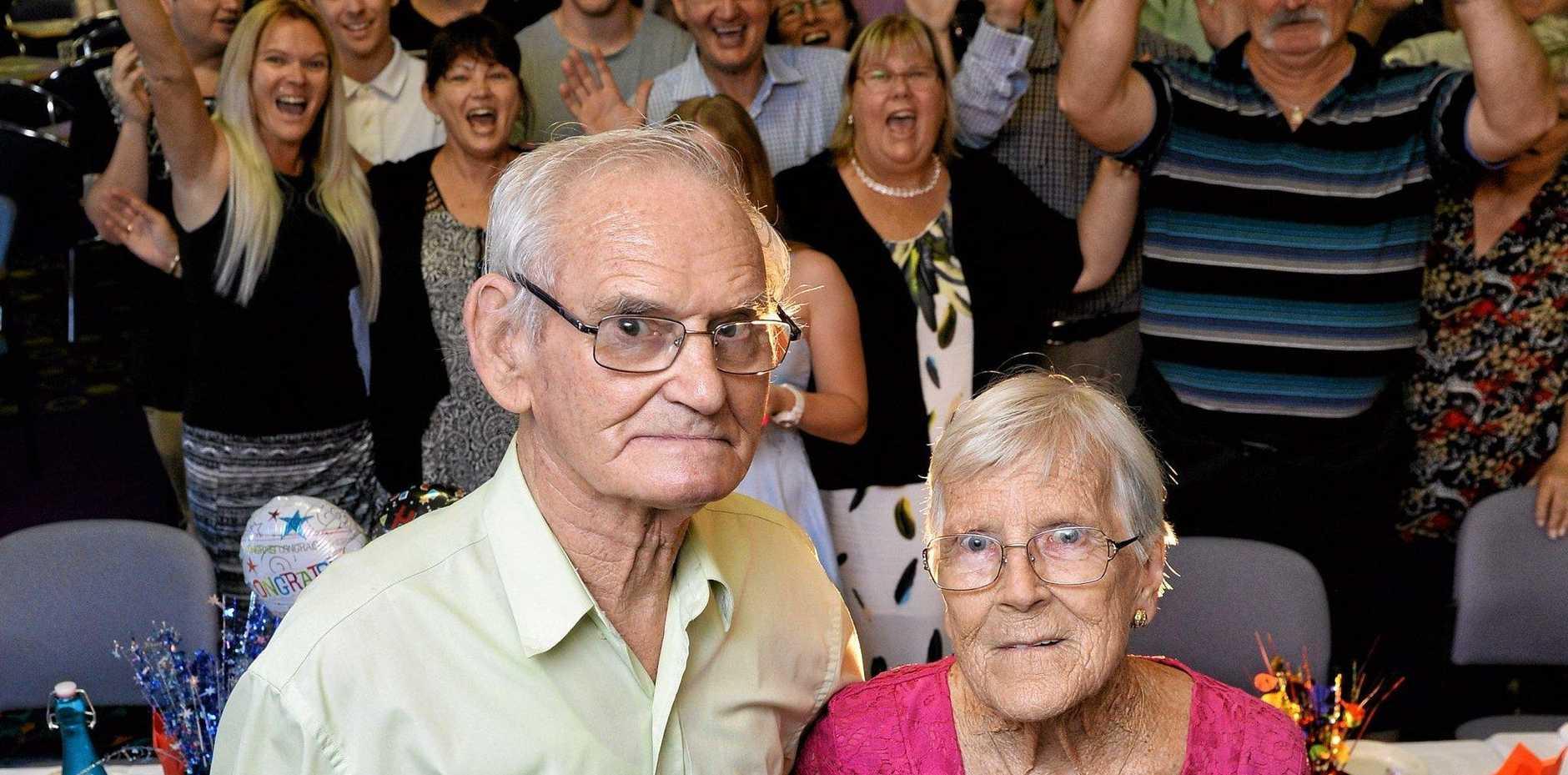 HAPPY DAYS: Joan and Robert 'Paddy' Ellison celebrate their 60th wedding anniversary.