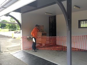 Fire damages Woombye train station waiting area