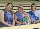 GENERATIONS: Former Grafton showgirls Danielle Bower, Kathryn Stewart and Melanie Austin, with Melanie's daughter Matilda, preparing for the 50 year anniversary of the showgirl contest.