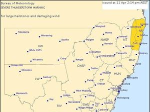 Severe thunderstorm forecast for Northern Rivers