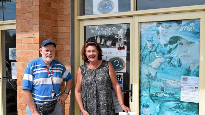 Paul Smith and Liz Hall outside the new APPVA office in Alstonville.