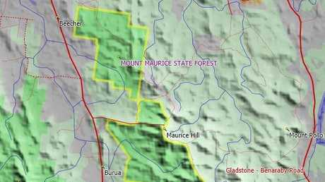The fire service will carry out a burn off at Mount Maurice State Forrest today.